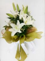 ช่อดอกไม้ ลิลลี่ขาวกลาง รหัส 4723