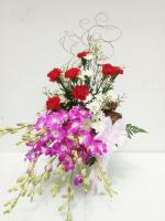 แจกันดอกไม้ Red Oriental B รหัส 3061