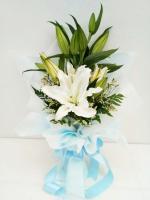 ช่อดอกไม้ ลิลลี่ขาวเล็ก รหัส 4711