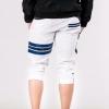 กางเกงสามส่วน พรีเมี่ยม ผ้า COTTON รหัส SST 322 JAP Blue สีขาว แถบน้ำเงิน