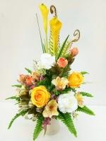 แจกันดอกไม้ประดิษฐ์กลางเหลือง รหัส 3085