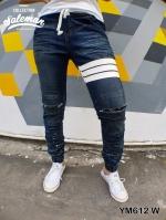 STRETCH JEANS JOGGER PANTS | ขาจั๊มยีนส์ยืด YM612 W