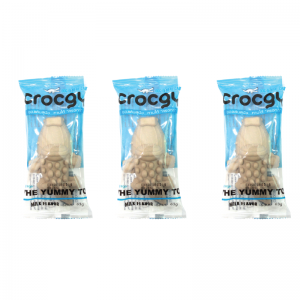 PET2GO ขนมขัดฟันสุนัข CROCGY รสนม 63g (3 ตัว/ชุด)