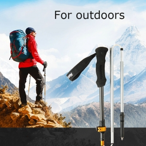 Trekking Pole Carbon And Aluminum Z Shape Folding Poles