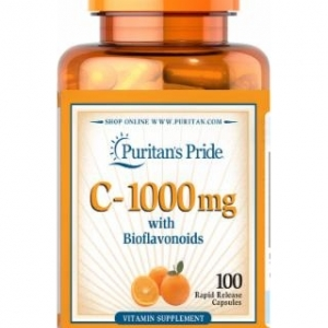 Puritan's Pride C-1000 mg with Bioflavonoids 100 เม็ด วิตามินซีคุณภาพสูง จากอเมริกาค่ะ ใน 1 เม็ดประกอบไปด้วย วิตามินซี 1000 mg
