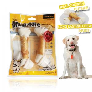 ขนมสุนัข MUNZNIE กระดูกผูกขาว 6นิ้ว พันอกไก่