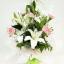 ช่อดอกไม้ ลิลลี่-กุหลาบขาวใหญ่ รหัส 4725