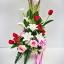 แจกันดอกไม้ประดิษฐ์ลิลลี่ขาวใหญ่ รหัส 3096