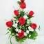 แจกันดอกไม้ประดิษฐ์กุหลาบแดงใหญ่ รหัส 3087