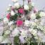 กระเช้าดอกไม้กุหลาบ-กล้วยไม้ รหัส 2054