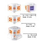 i-Plug Condo Like ปลั๊กไฟ ทรงคอนโด รุ่น IP-105+L05+L03U - Orange