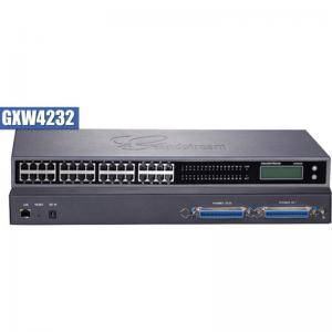 GXW 4232 FXS Gateway ขนาด 32-Port FXS, 1 Port Lan, T.38 Fax Over IP, 132x48 backlit graphic