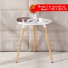 CASSA โต๊ะกลมอเนกประสงค์สีขาวสไตล์โมเดิร์น แบบกลม ขนาด 80x69 cm.