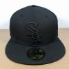 New Era MLB ทีม Chicago White Sox สีดำปักดำ 🎃ไซส์ 7 3/8 วัดได้ 59cm )