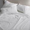 ชุดผ้าปูที่นอนโรงแรมสีขาวเรียบขนาด 6 ฟุต