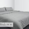 ผ้าปูที่นอนสีเทาเข้ม รหัส 03