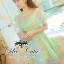 Fairy lace dress เดรสแบรนด์เนมลุคสาวหวาน เนื้อผ้าออแกนซ่าซีทรูปักลวดลายดอกไม้ งานปักแน่นสวย เนื้อผ้ามี texture ผสมกลิตเทอร์ฟรุ้งฟริ้งในตัว ดีเทลตัดแต่งผ้าออแกนซ่าระบายเป็นส่วนคลุมไหล่ ช่วงกระโปรงระบายรอบตัวซ้อนกันเป็นชั้น มีซับในในตัวนะคะ ทรงสวยเหมือนนางแ thumbnail 1