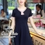 เดรสลุคสาวหวานน่ารัก เนื้อผ้า cottonทอผืนใหญ่ตัดต่อขอบชุดสไตล์ sailor style thumbnail 1