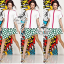 Moschino zipper t-shirt and polka dot skirt thumbnail 1