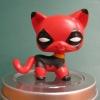แมว Short Hair แต่งชุด Deadpool