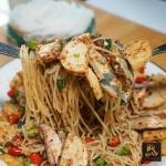 สูตรยำขนมจีน ปลาทูหมูยอ!! เปรี้ยวปากปรี๊ด ซีดปากแรง!!
