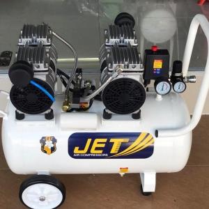 ปั้มลมเสียงเงียบไร้น้ำมัน JET 50 ลิตร