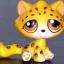 แมวลายเสือชีต้า สีเหลือง #385 (หายากมาก) thumbnail 1