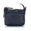 LDB-96119BLK กระเป๋าสพายข้างขนาดกลาง สามซิป สายปรับระดับได้ สีดำ