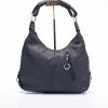 LDB287ELE กระเป๋าสะพาย หนังแท้ พิมพ์ลายช้าง Front Zip Hobo Leather Handbag
