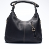 LDB287 กระเป๋าสะพาย หนังแท้ Front Zip Hobo Leather Handbag