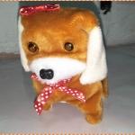 ตุ๊กตาหมาของเล่นเด็ก เดินได้ เห่าได้ กระดิกหาง มีไฟที่ตา (สีน้ำตาลเข้ม)