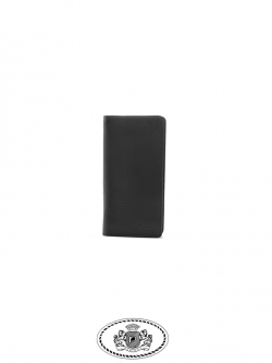 GTW5816 กระเป๋าสตางค์หนังแท้ สองพับยาว ทรงแบน หนังนิ่มมาก ใส่แบงค์พันไม่ต้องพับครึ่ง สีดำ
