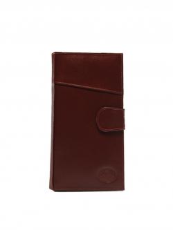 กระเป๋าสตางค์ หนังแท้ สำหรับท่องเที่ยว travel organizer bifold long wallet