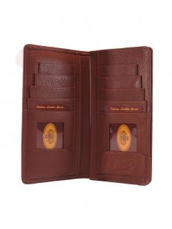 กระเป๋าสตางค์ผู้ชาย ใบยาว สองพับ Long Bifold Leather Wallet