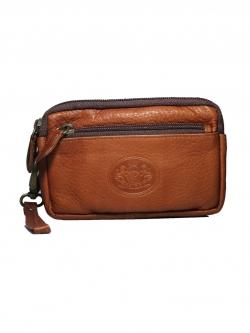 กระเป๋าอเนกประสงค์ สามซิป หนังแท้ Triple Zip Leather Organizer
