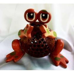 โคมไฟกะลามะพร้าวกบน้อย Coconut Shell Lamp (Frog)