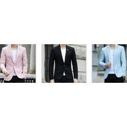 เล็กพิเศษ!เสื้อสูทแฟชั่น pastel สีชมพู ฟ้า ดำ size No.34 36 38 40 42