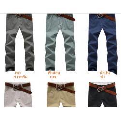 ใหญ่ราคาพิเศษ+28-40!!กางเกงสแล็คสลิม หน้าร้อนใส่สบาย หลากสีHAD เอวนิ้ว No.28-40 ขาว ดำ เทา เบจ ฟ้าเข้ม