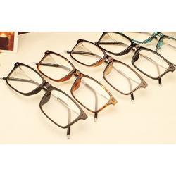 กรอบแว่นสายตาแฟชั่น กรอบบาง เรโทร วินเทจ ขาเข็ม สี ดำด้าน ดำเงา กระ ชา