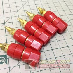 4mm banana socket power supply terminal (RED)