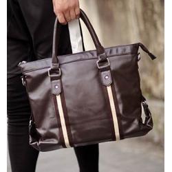 สีดำ น้ำตาล!!กระเป๋าสะพายไหล่ กระเป๋าถือโนตบุค แลพทอป เย็บแถบหนัง PU ทรง H