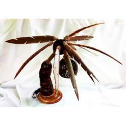 โคมไฟกะลามะพร้าวรูปต้นมะพร้าว2 Coconut Tree Lamp