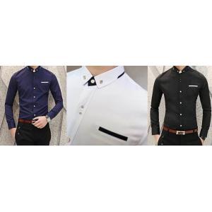 สีดำ น้ำเงิน ขาว!!2ตัว999+หลากสีเสื้อเชิ้ตแขนยาว คลิบกระเป๋าแต่งมุมปก สีดำ น้ำเงิน ขาว No.35 37 39 41 42