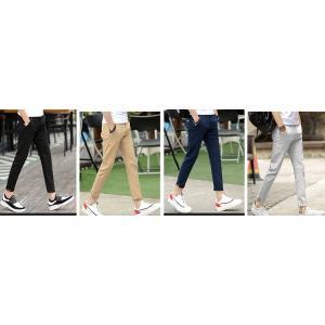 พับขาแต่งลาย++กางเกงสแล็ค 5ส่วน กางเกงผ้ายืด เข้ารูป ขาเล็ก กระเป๋าปะ No.27-36 สีดำ เทา กากี น้ำเงิน
