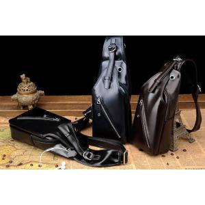 กระเป๋าสะพายข้าง หลัง ทรงเรียวยาว หนังเงา สี ดำ น้ำเงิน น้ำตาล