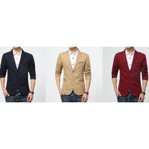 ++เสื้อสูทแฟชั่นสลิมฟิต กระเป๋าเดินเส้น Size No.35 37 39 41 43 45 น้ำเงิน แดง กากี