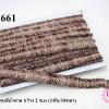 ผ้าแถบ โทนสีน้ำตาล กว้าง 2 ซ.ม (1พับ/18หลา)