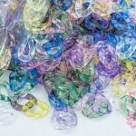ห่วงพลาสติก คละสีใส 16X23มิล (1กิโล/1,000กรัม)