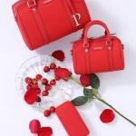 กระเป๋าแบรนด์เนม PISIDIA รุ่น WELKIN mini สีแดง (ส่งฟรี EMS)