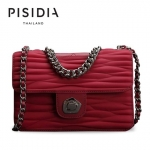 กระเป๋าแบรนด์เนม PISIDIA รุ่น VINCI สีแดงเข้ม (ส่งฟรี EMS)